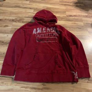 Vintage American Eagle red hoodie sweatshirt